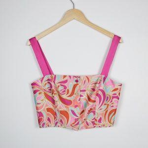 NWT Zara Silky Paisley Crop Top